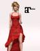 XK Maitreya Flirty Frills Gown Ruby Red