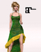 XK Maitreya Flirty Frills Gown Jade