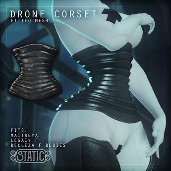 ::Static:: Drone Corset {Black}