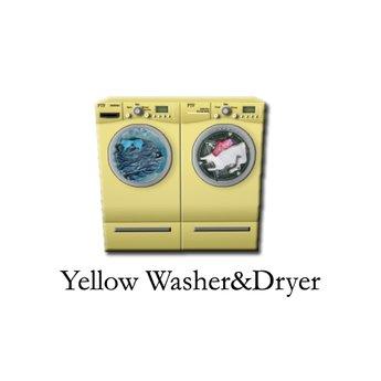 Ptf Washer Dryer Yellow