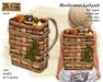 Mushroom basket backpack - Old World - Rustic / Medieval