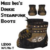 Miss Ing's Dinkie Steampunk Boots Black