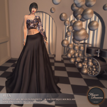.:FlowerDreams:.Rita Gown - dark Demo