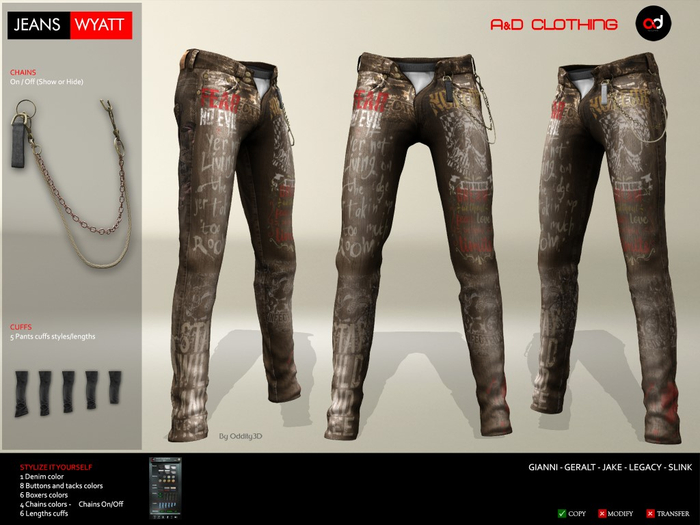 A&D Clothing - Pants -Wyatt- Brown