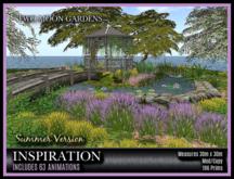 TMG - INSPIRATION* Landscaped Lily Pond with Gazebo, Bridge and 63 Animations