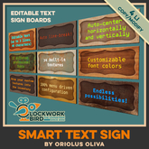 ★ NEW! ★ Smart text sign - enter your custom text!
