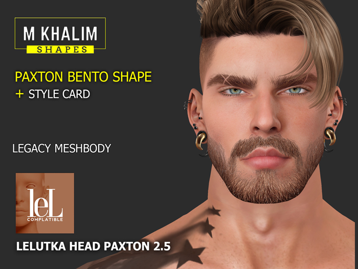 Paxton shape for Lelutka head Paxton 2.5 / Legacy