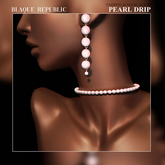 Peal Drip Earring & Necklace Set{BR}