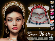 QUEEN HEART JEWELRY SET COLLECTION - WHITE QUEEN