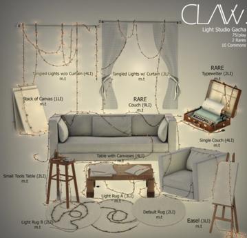 C L A Vv. Light Studio - Couch RARE