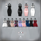 -Pixicat- Thorn.Dress - Black (Maitreya) 1