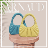 ARNAUD Ruched Handbag