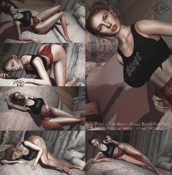 Lush Poses - This Night - Female bento pose pack