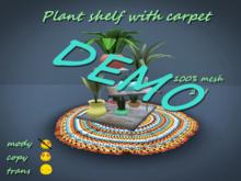 Plant shelf with carpet DEMO *Box*