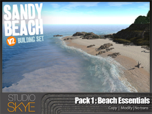 V2 Skye Sandy Beach Building Set with Waves: 100% MESH