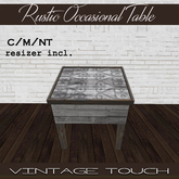 Vintage Touch Barnwood Side Table