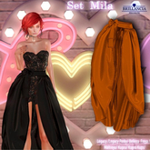 BRILLANCIA - Skirt  Mila ORANGE