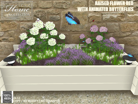 Flower, bed, butterflies