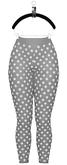 Maeva Cut-Out Leggings — Gray