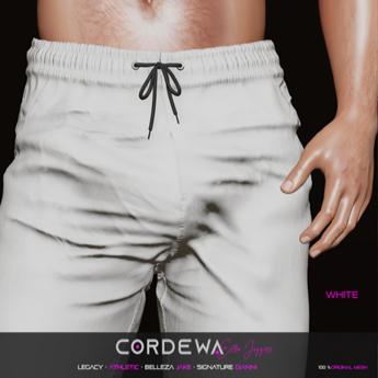 *CORDEWA* EXTRA JOGGERS WHITE