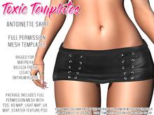 Toxic Templates - Full Permission Mesh Kit - Antoinette Skirt - Rigged For Maitreya, Freya, Legacy & Inithium Kupra Body