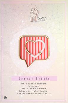 Swan Speech Bubble Heart