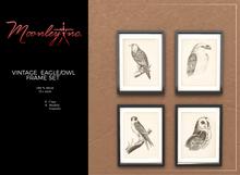 Moonley Inc. - Vintage Eagle/Owl Frame Set