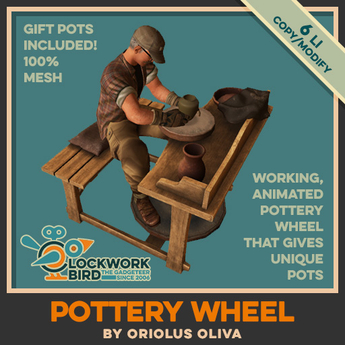 ★ NEW! ★ [OO] Pottery wheel  v3.0 - Create your unique pot!