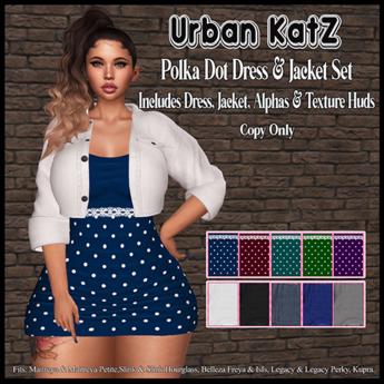 *Polka Dot Dress & Jacket (ADD)