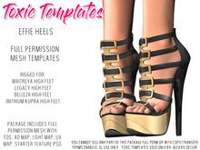 Toxic Templates - Full Permission Mesh Kit - Effie Heels - For Maitreya, Legacy, Belleza & Inithium Kupra High Feet