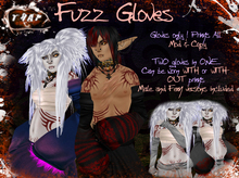 [][]Trap[][] Fuzz Gloves Plain Black
