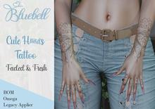 BLUEBELL Cute Hands Tattoo