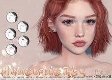 WarPaint* #IWokeUpLikeThis4 [Lelutka Evo/EvoX] - Eyeliner + Freckles + Beauty Marks + Highlighter + Blusher