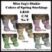 Miss Ing's Dinkie Stocking Set Colors of Spring BOM