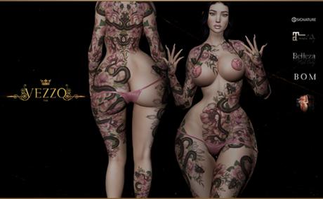 Sina Tattoo - Unisex, Pink, single colour, Maitreya, Legacy, INTHIUM KUPRA, Belleza, Signature, Omega, BOM - Vezzo Ink