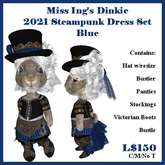 Miss Ing's Dinkie Steampunk Outfit Blue 2021