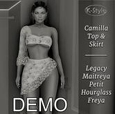 [K-Style] CAMILLA TOP & SKIRT - DEMO