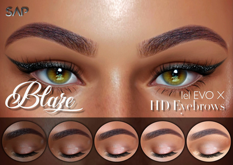 Sap ~ Blaze Eyebrows HD (Lelutka Evo / EvoX)
