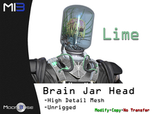 [MB3] Brain Jar Head - Lime