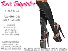 Toxic Templates - Full Permission Mesh Kit - Claria Heels - For Maitreya, Legacy, Freya & Inithium Kupra High Feet