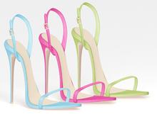 Salvadori - Classic 'Christy' Leather High Heel Sandals