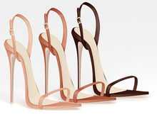 Salvadori - Nude 'Christy' Leather Sandals