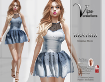 [Vips Creations] - Original Mesh Dress - [Beatriz-Jeans]-FITTED