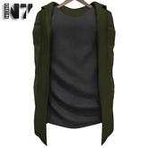 Nero - Zante Vest - Army Green