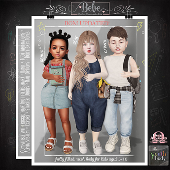 {Bebe} Youth Fitted Mesh Body 3.2