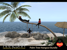 Animated Beach Palm Tree with Swing - Four Avatar Hangout Bundle by ReACT Hangouts