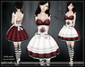 [Wishbox] Alice in Wonderland (Red) - EGL Goth Gothic Dark Alice Costume Dress! Valentine's Day Outfit