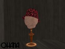 Ohana Bucket Hat Leopard Red (WEAR TO UNPACK)