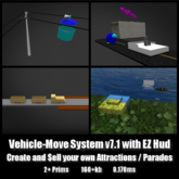 Vehicle Move System V7.1 *0.170ms* low lag smooth non-physics sell your own rides parades