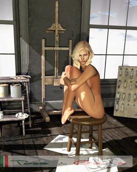 PdG F Art Stool Sit